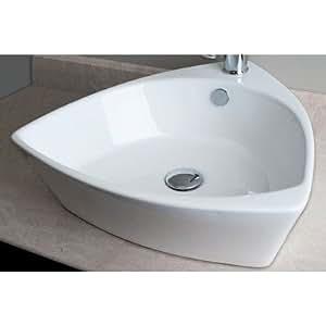 Triangular Shaped Single Hole Vessel Bathroom Sink