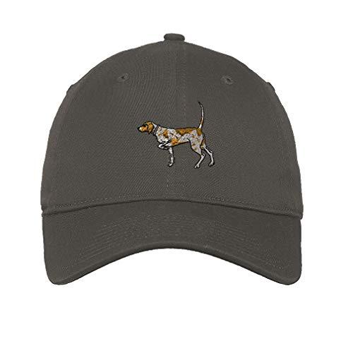 German Shorthaired Pointer Hat - LowProfileSoft Hat German Shorthaired Pointer Embroidery Design Cotton Dad Hat Flat Solid Buckle Dark Grey Design Only