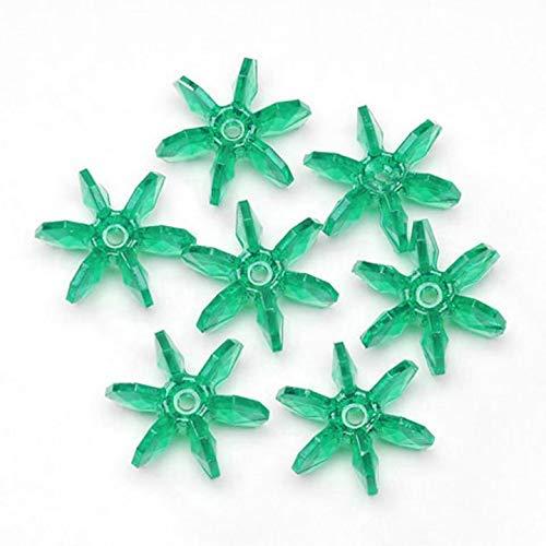 Darice Bulk Buy DIY Starflake Beads Transparent Christmas Green 10mm 1000 Pieces (1-Pack) 06507-7-T12