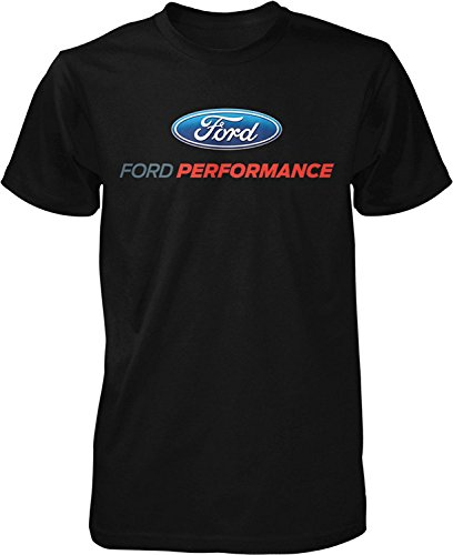 Lucky Ride Ford Performance T-Shirt Mustang GT ST Racing (Front Print), Black, M ()