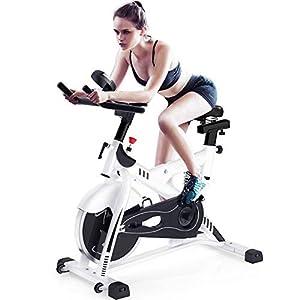 418nlnLtbnL. SS300 Allenamento Spin Bike Professionale Cyclette Aerobico Home Trainer, Bici da Fitness, Volano All-inclusive, Resistenza Regolabile, Staffa Multifunzionale, Bicicletta Ergonomica, Monitor Lcd