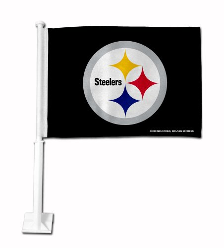 NFL Pittsburgh Steelers Circle Logo Car Flag Flag Logo License Plates