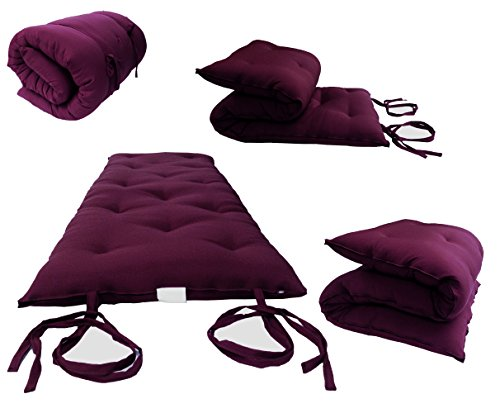 D&D Futon Furniture Brand New Queen Size Burgundy Traditiona