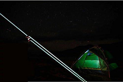 LIOOBO Fluoreszierende reflektierende Abspannleine Zelt Seil Camping Schnur Paracord f/ür Outdoor-Verpackung 2,5 mm