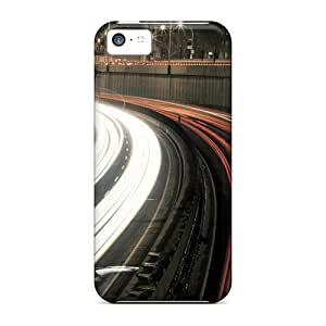 meilz aiaiNew Styleiphone 5/5s Protective Cases Covers/ Iphone Cases - Night Highway Long Exposure City Desktopmeilz aiai