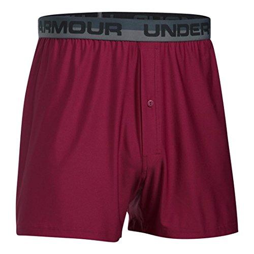 Under Armour Men's Original Boxer Shorts, Large, Black Currant/Black