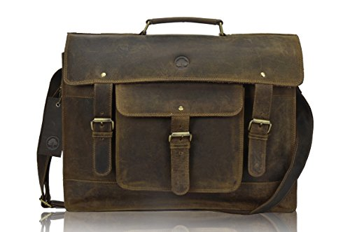 TONY'S BAGS - 18 inch Laptop bag - College Bag, Office Bag Laptop Bag Briefcase in Vintage Leather by Tony bags (Image #5)