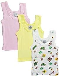 Oldlover-Baby Girls 5-Pack Variety Onesies Bodysuits Organic Cotton Bodysuits Onesies Rompers