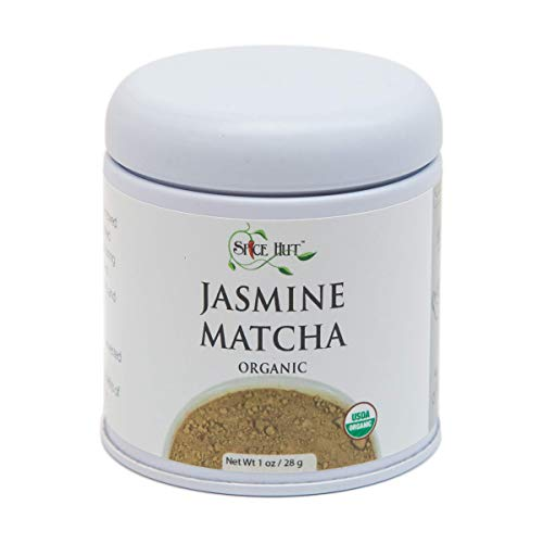 - The Spice Hut USDA Certified Organic Matcha Jasmine Green Tea Powder, Pure 1 oz