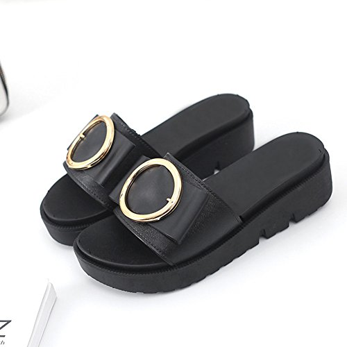 Women's Thick-Soled Sandals and Flat Slippers Open Toe Slip-On Flat and Slide Sandal Footbed Cork Sole Non-Slip Slides... B07FM1T74W Shoes 9300b0