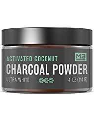 M3 Naturals Activated Charcoal Teeth Whitening Powder Natural Coconut Bentonite Clay Toothpaste 2X Competitors 4 OZ