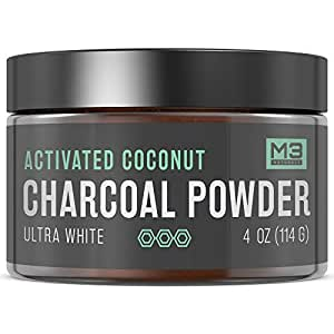 m3 naturals activated charcoal teeth whitening powder natural coconut bentonite clay. Black Bedroom Furniture Sets. Home Design Ideas