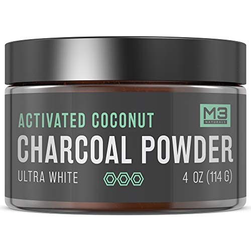 M3 Naturals Premium Teeth Whitening Charcoal Powder