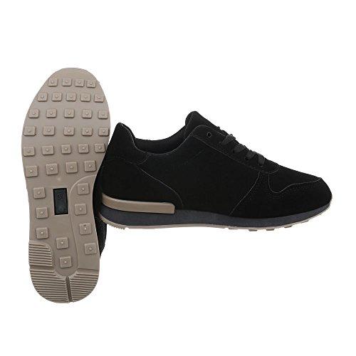 Donna Da Nero Scarpe design Sneakers Sneaker Ital Piatto Low N862a 5TdgxqFwd