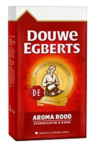 Douwe Egberts Ground Coffee - Douwe Egberts Aroma Rood Ground Coffee, 8.8-ounce Packages (Pack of 4) ...