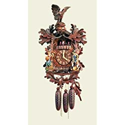 Original Eight Day Movement Musical Cuckoo Clock with Filigree Carving Work 22.5 Inch