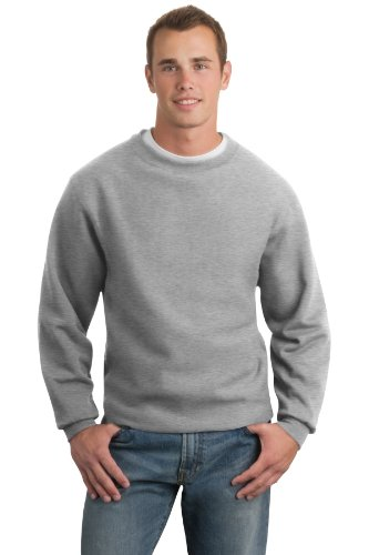 - Sport-Tek Men's Super Heavyweight Crewneck Sweatshirt L Athletic Heather