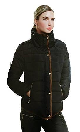 #939 doudoune pour femme design parka veste matelassée noirbleubeige 40343638 smlxL 602