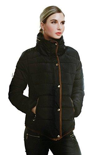 #939 Damen Daunenjacke Parka Designer Jacke Stepp Blau Beige Schwarz 34 36 38 40 S M L XL #602