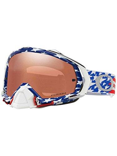 Oakley Mayhem Pro MX TLD Collection Adult Off-Road Motorcycle Goggles Eyewear - Glory RWB/Prizm MX Black / One Size Fits - Sunglasses Glory