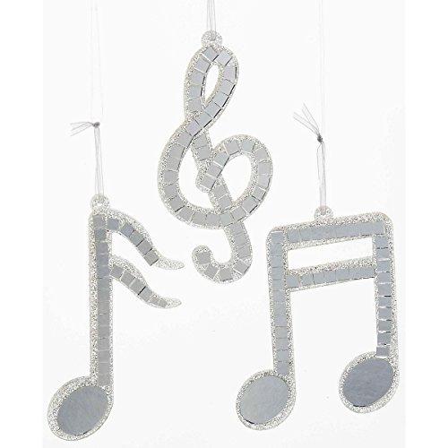 Kurt S. Adler Silver Mirror Musical Note Ornament (Musical Note Ornaments)