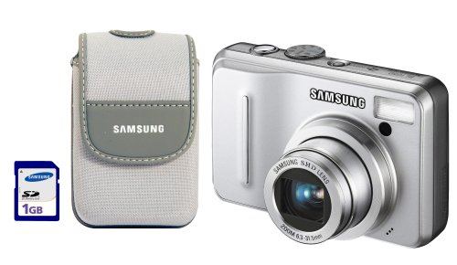 Samsung BL1050 10.2 MP Digital Camera Kit with 5x Optical Zoom (Includes Camera Case and 1 GB SD - Zoom 10.2 Lcd Mp 5x