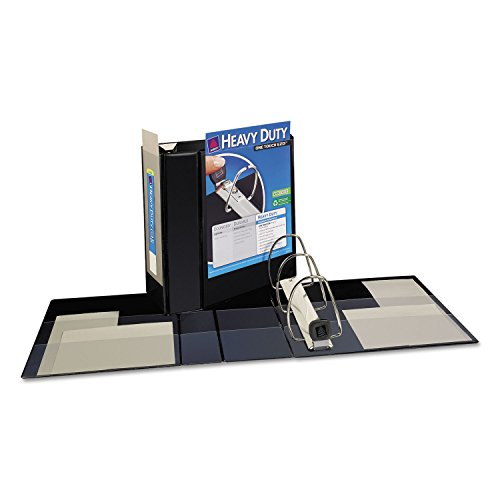 "Nonstick Heavy-Duty EZD Reference View Binder 5"" Capacity Bl"