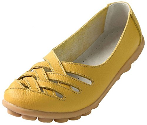 collo donna Yellow basso FangstoFlats A Zawq088