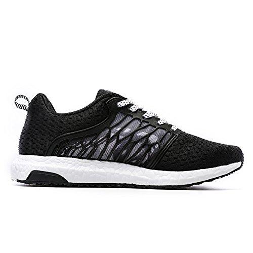 Onemix Scarpe Da Corsa 2017 Scarpe In Mesh Traspirante Comode Sneakers Uomini Donne Scarpe Unisex Di Estate Nero / Bianco