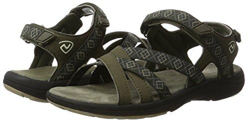 Sandals Leather Northland Deportivas Professional Para Multicolor olive Mujer Mia camel Sandalias qEtq6w
