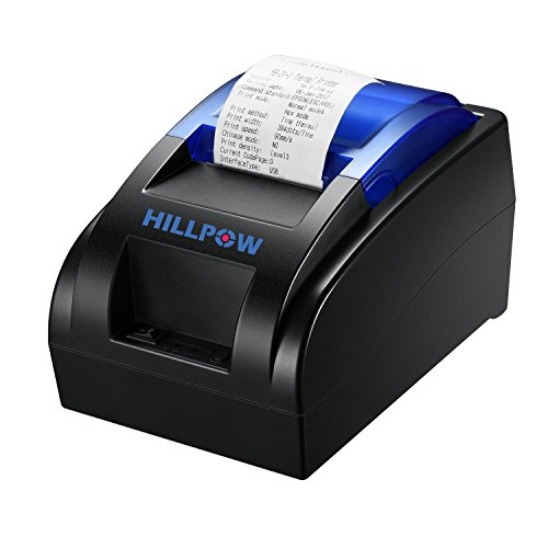 58MM USB Thermal Receipt Printer, High Speed Printing 90mm/sec, Compatible with ESC / POS Print Commands Set from HILLPOW