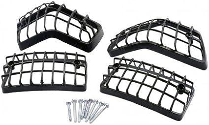 Blinkergitter-Set schwarz f/ür VESPA PX200 E Lusso//EFL// Arcobaleno//Elestart 200 VSX1T 2T AC `83-`97