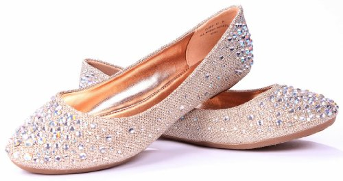 Clore Loafer Mujeres Slip Rhinestone Moda Glitter Ballet Flats Zapatos Rgd