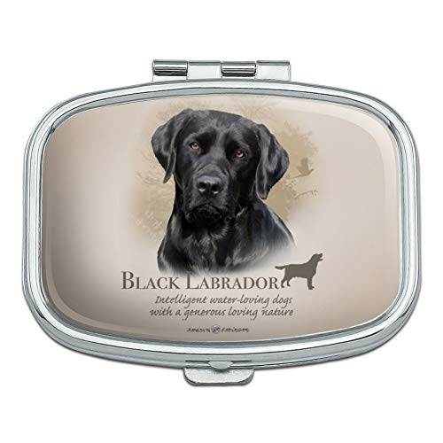 Box Trinket Pill (Black Lab Labrador Dog Breed Rectangle Pill Case Trinket Gift Box)