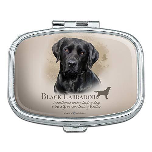 Black Lab Labrador Dog Breed Rectangle Pill Case Trinket Gift ()