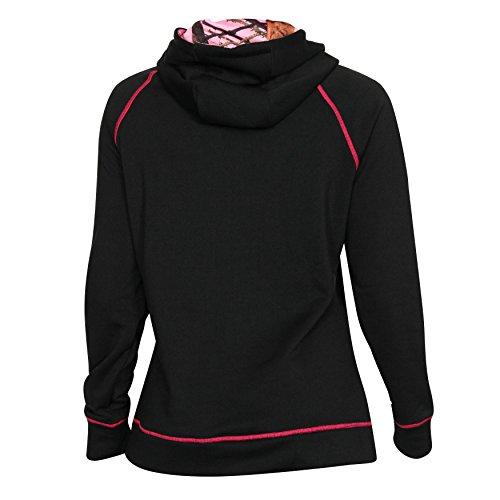 Rocky Women's Fleece Hoodie, Black, Mossy Oak, Pink, L