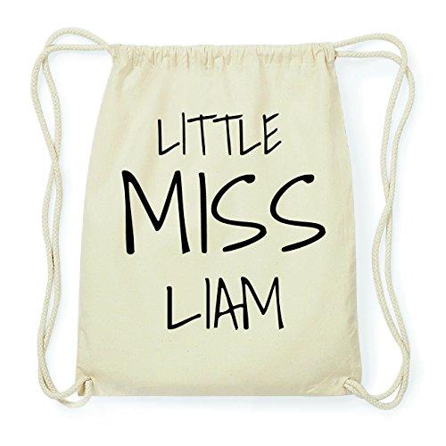 JOllify LIAM Hipster Turnbeutel Tasche Rucksack aus Baumwolle - Farbe: natur Design: Little Miss