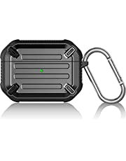Unicorn Beetle Pro Series AirPods Pro Case Armor Rugged Protective Cover with Keychain (Black)