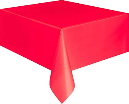 Image Unavailable  sc 1 st  Amazon.com & Amazon.com: Unique Plastic Table Cover Rectangle - Ruby Red: Kitchen ...