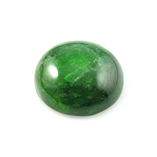 Cabochon Gemstone-Chrome Diopside -Round Cabochon- Grade A -12mm- 2 pieces