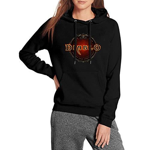 Diablo 3 Logo Hoodie Fleece Adult Shirt Jacket Sweatshirt for Women Hooded -
