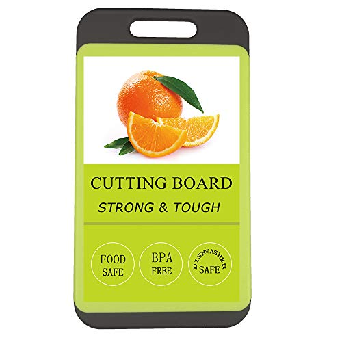 Kitchen Cutting Board, BPA-Free, Dishwasher Safe, Juice Grooves, Thicker Boards, Easy Grip Handle, Non Porous, 2 Pack  (Small)