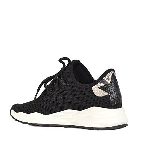 Black Mujer Zapatillas Cuero Ash Footwear Zapatos Negro de Stardust 7w1x08nx6