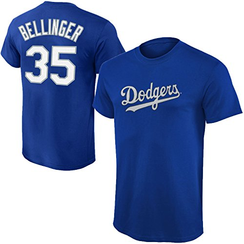 Outerstuff MLB Youth Performance Team Color Player Name and Number Jersey T-Shirt (Large 14/16, Cody Bellinger)