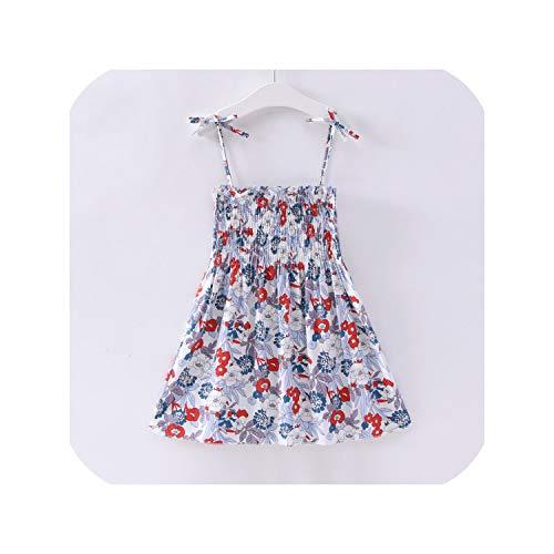 Sleeveless Dress Kids Cotton Princess Dress Outfit Children Print Floral Slip -