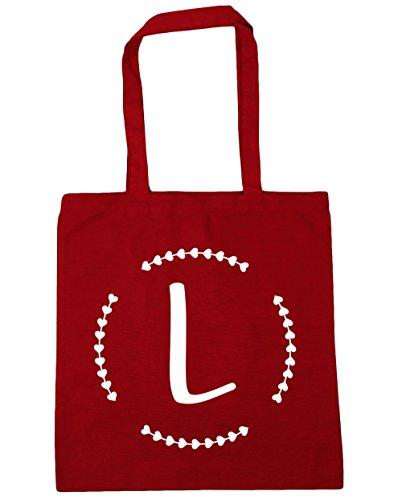 HippoWarehouse - Bolsa de playa de algodón  Mujer, granate (Rojo) - 13554-TOTE-Burgundy rojo clásico