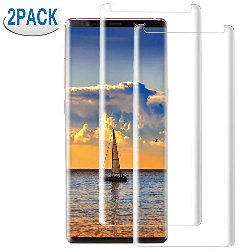 [2Pack] Samsung Galaxy Note 9 Screen Protector, 3D Curved Tempered Glass [9H Hardness][Anti-Scratch][Anti-Bubble][High Definition] Tempered Glass Screen Protector Compatible with Samsung Galaxy Note 9