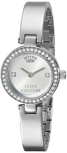 [Juicy Couture Women's 1901235 Luxe Couture Silver-Tone Watch] (Movado Bangle Watch)