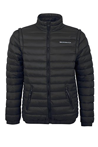 Cappotto Nero black Cs10 Uomo Zipoff Crosshatch pwOqTT
