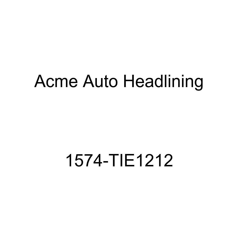 Acme Auto Headlining 1574-TIE1212 Dark Blue Replacement Headliner 1957 Pontiac Catalina 4 Door Hardtop 7 Bow, 0 Chrome